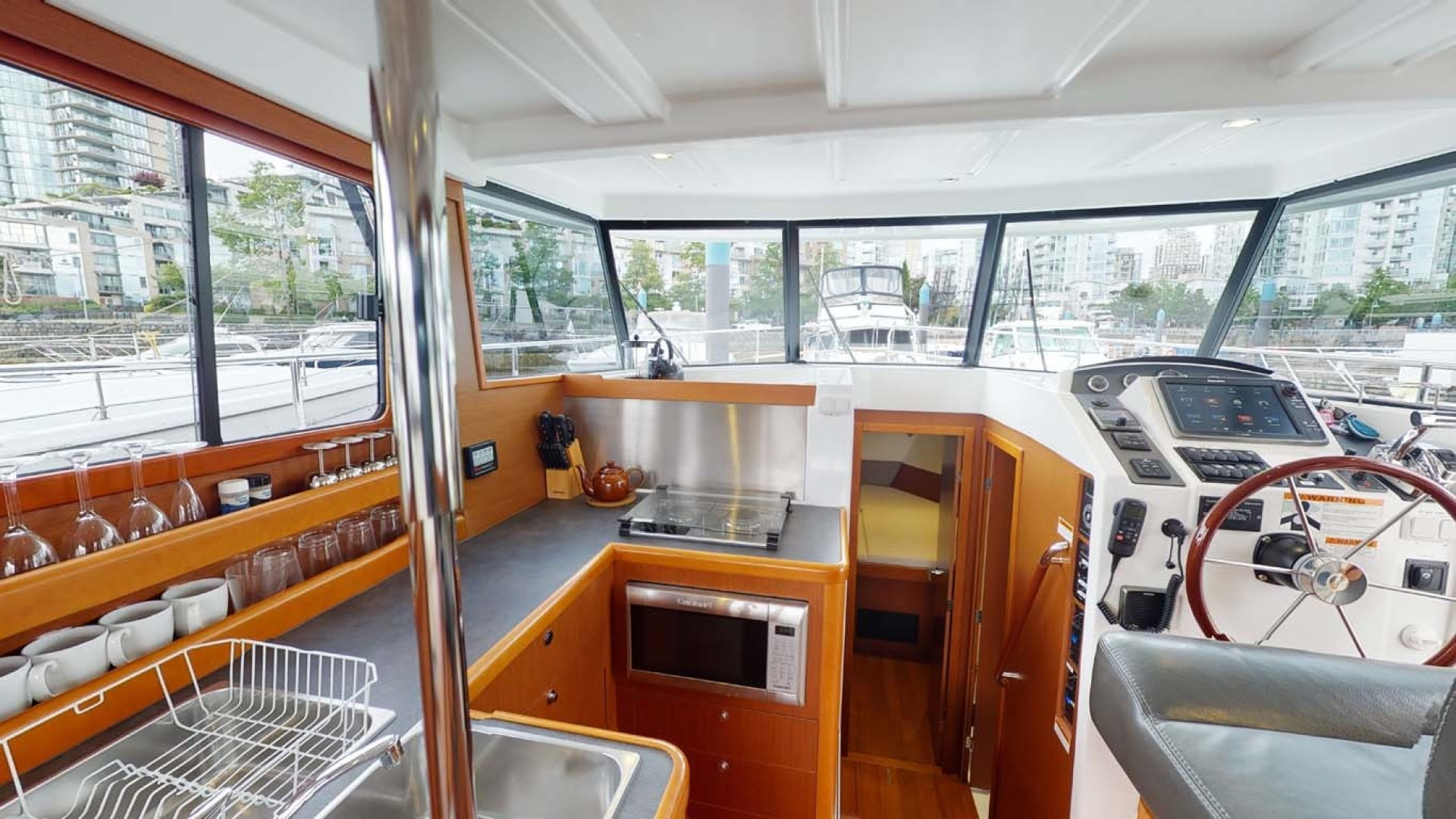 Beneteau-Swift Trawler 34 2015-Bon Sejour Vancouver, BC-Canada-Galley and Lower Helm-1441060 | Thumbnail