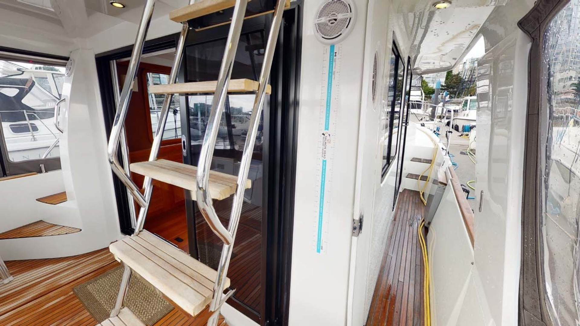 Beneteau-Swift Trawler 34 2015-Bon Sejour Vancouver, BC-Canada-Stairs to Lower Aft Deck-1441096 | Thumbnail
