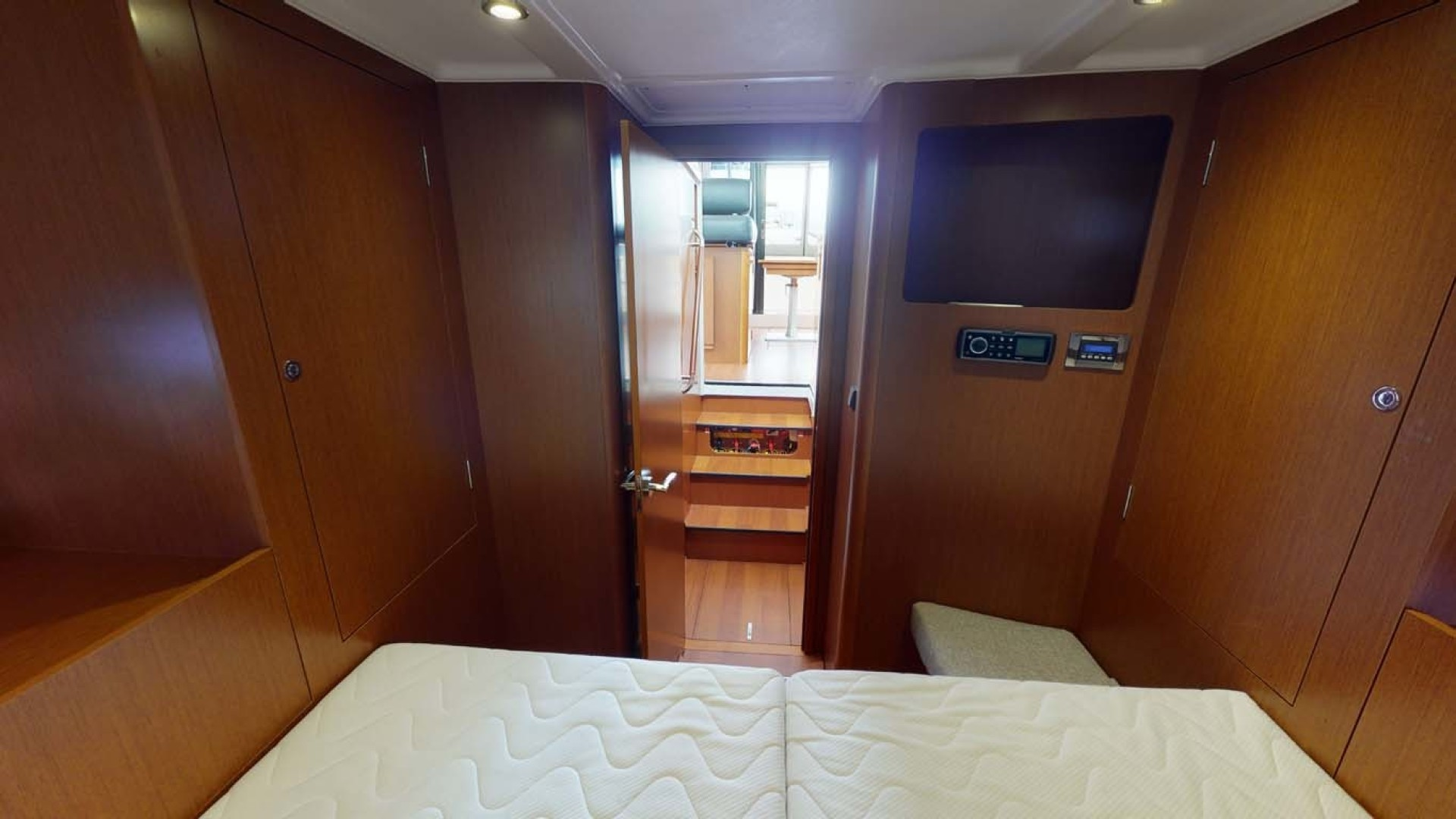 Beneteau-Swift Trawler 34 2015-Bon Sejour Vancouver, BC-Canada-Master Stateroom TV-1441077 | Thumbnail