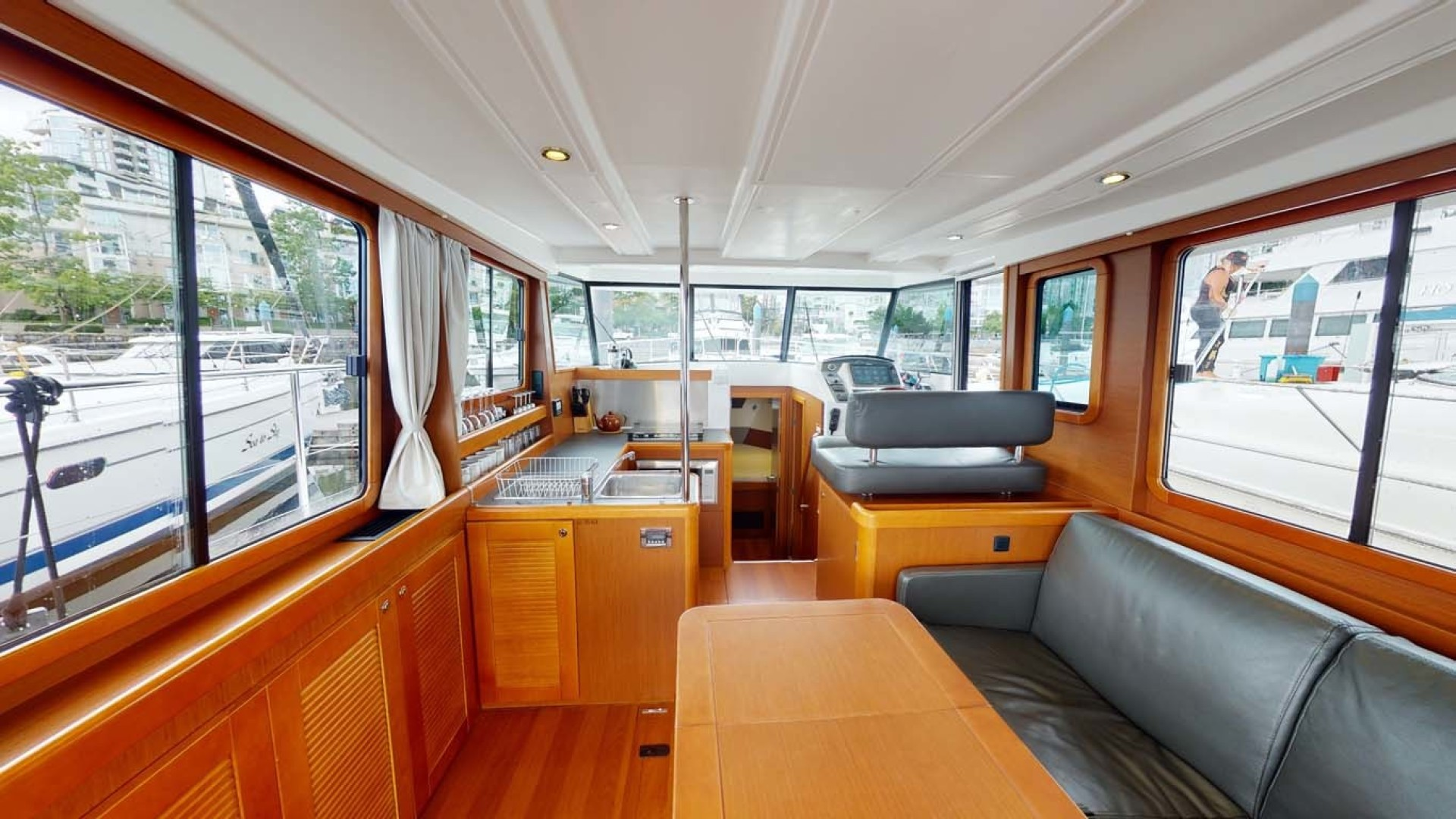 Beneteau-Swift Trawler 34 2015-Bon Sejour Vancouver, BC-Canada-Main Salon, Galley and Lower Helm-1441074 | Thumbnail