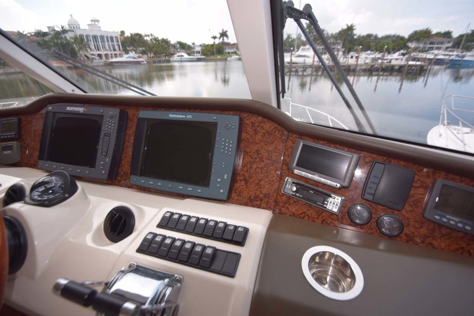 Riviera-Enclosed Flybridge 2007-Magica II Coral Gables-Florida-United States-Helm Details Thrusters-1443146 | Thumbnail