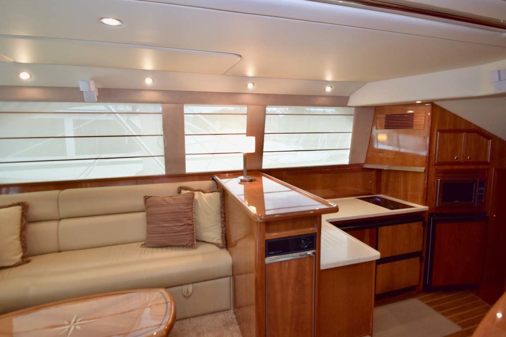 Riviera-Enclosed Flybridge 2007-Magica II Coral Gables-Florida-United States-Salon View To PORT And Galley-1443168 | Thumbnail