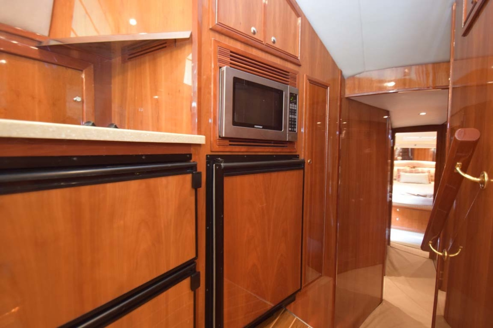 Riviera-Enclosed Flybridge 2007-Magica II Coral Gables-Florida-United States-Galley View To Staterooms-1443175 | Thumbnail