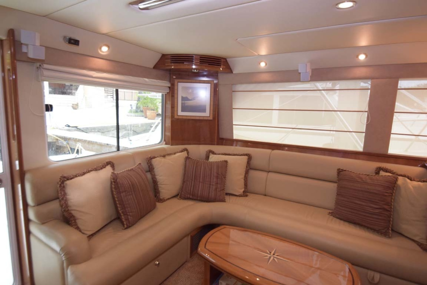 Riviera-Enclosed Flybridge 2007-Magica II Coral Gables-Florida-United States-Salon View To PORT-1443160 | Thumbnail