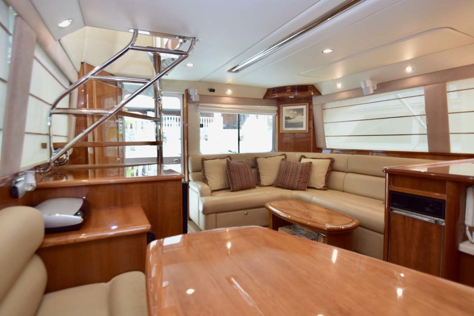 Riviera-Enclosed Flybridge 2007-Magica II Coral Gables-Florida-United States-Dinette View To Stairs To FB-1443166 | Thumbnail