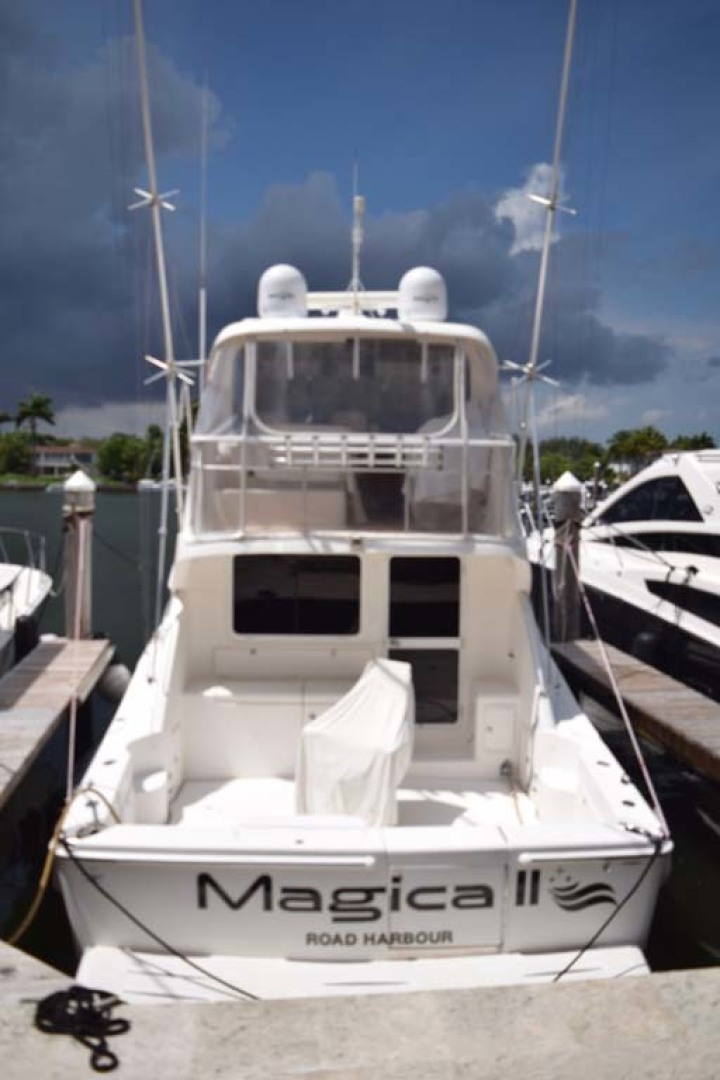 Riviera-Enclosed Flybridge 2007-Magica II Coral Gables-Florida-United States-Stern View From Dock-1443191 | Thumbnail