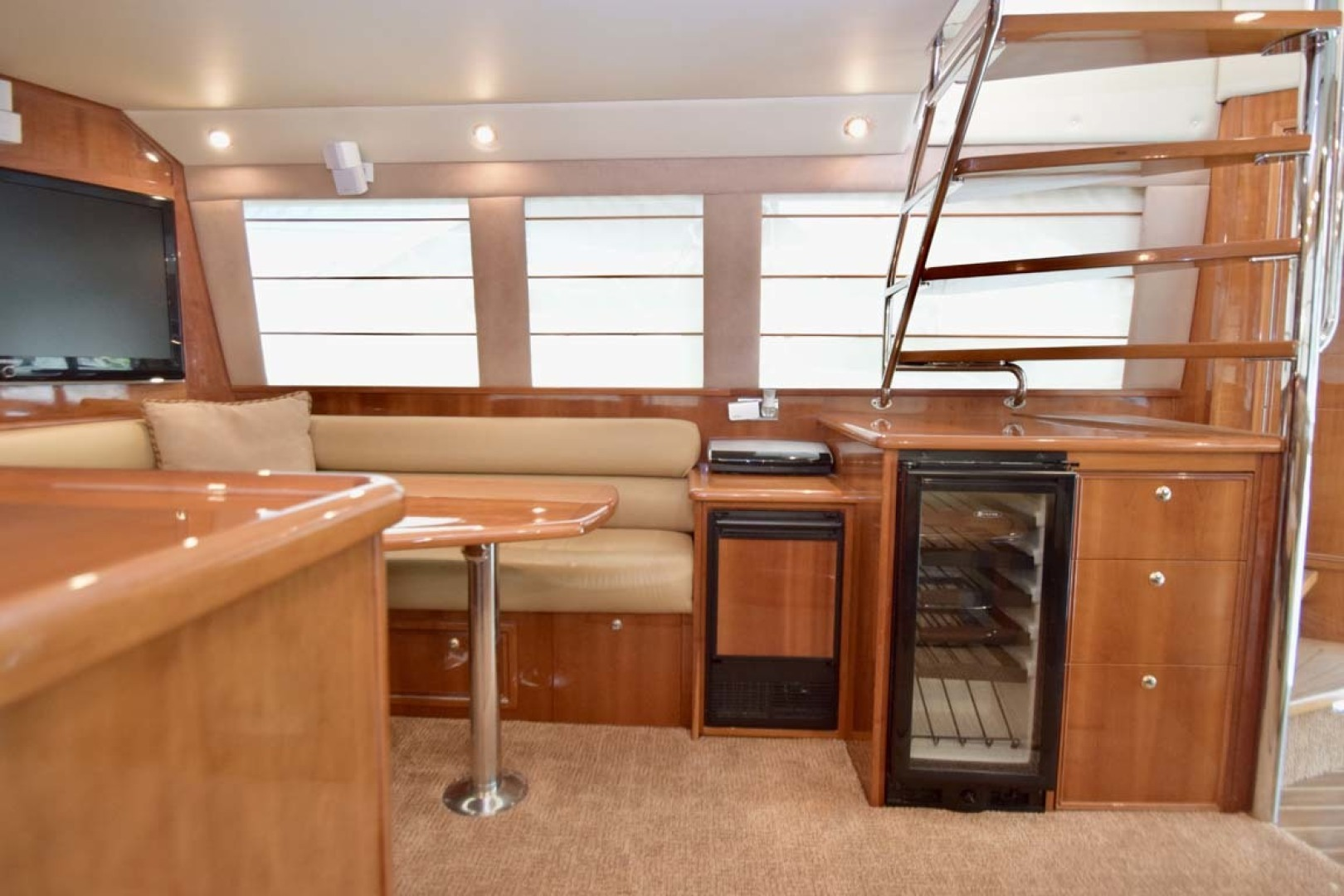 Riviera-Enclosed Flybridge 2007-Magica II Coral Gables-Florida-United States-Salon View To STBD Dinnette-1443161 | Thumbnail