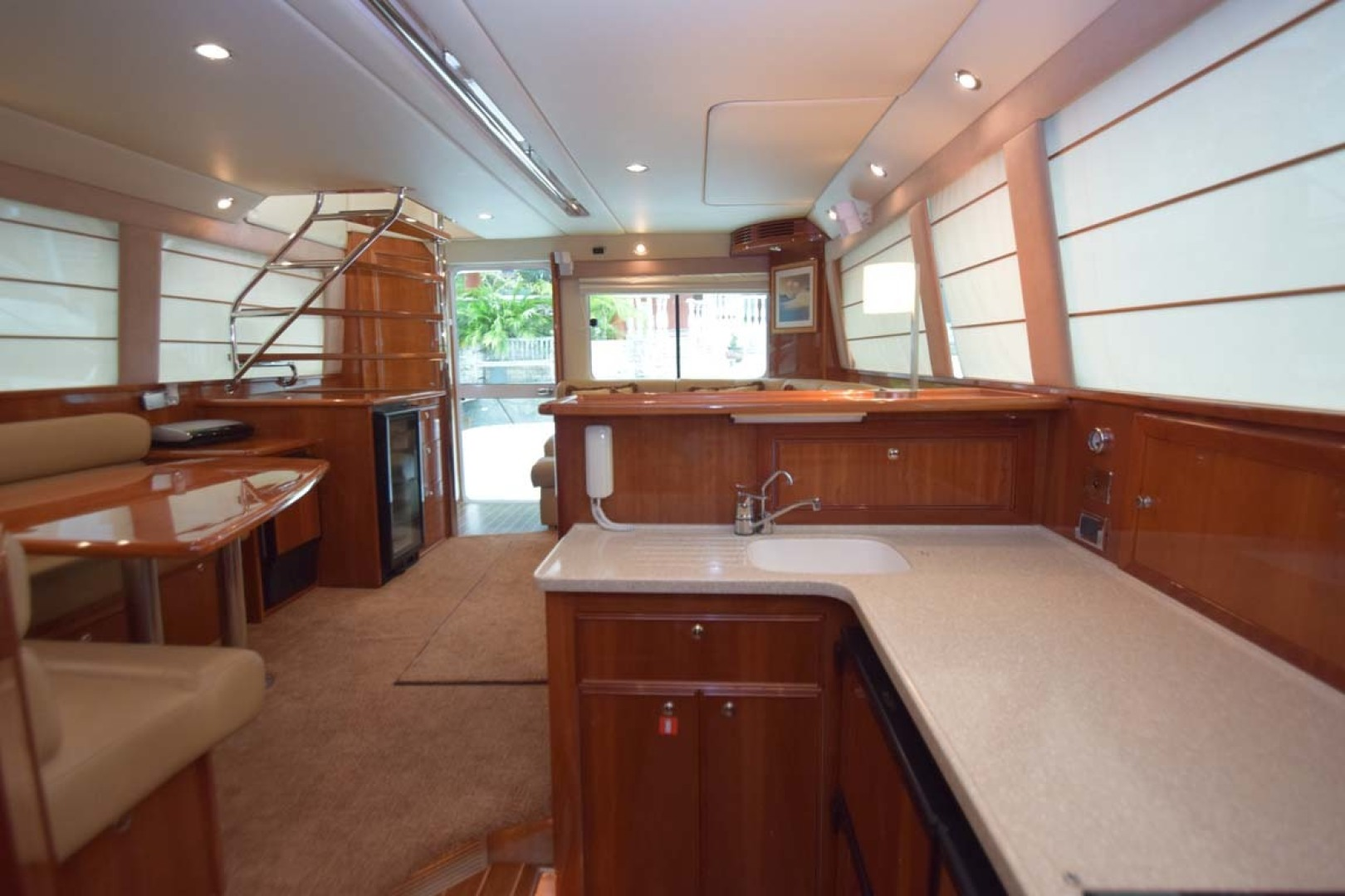 Riviera-Enclosed Flybridge 2007-Magica II Coral Gables-Florida-United States-Galley View To Salon-1443170 | Thumbnail