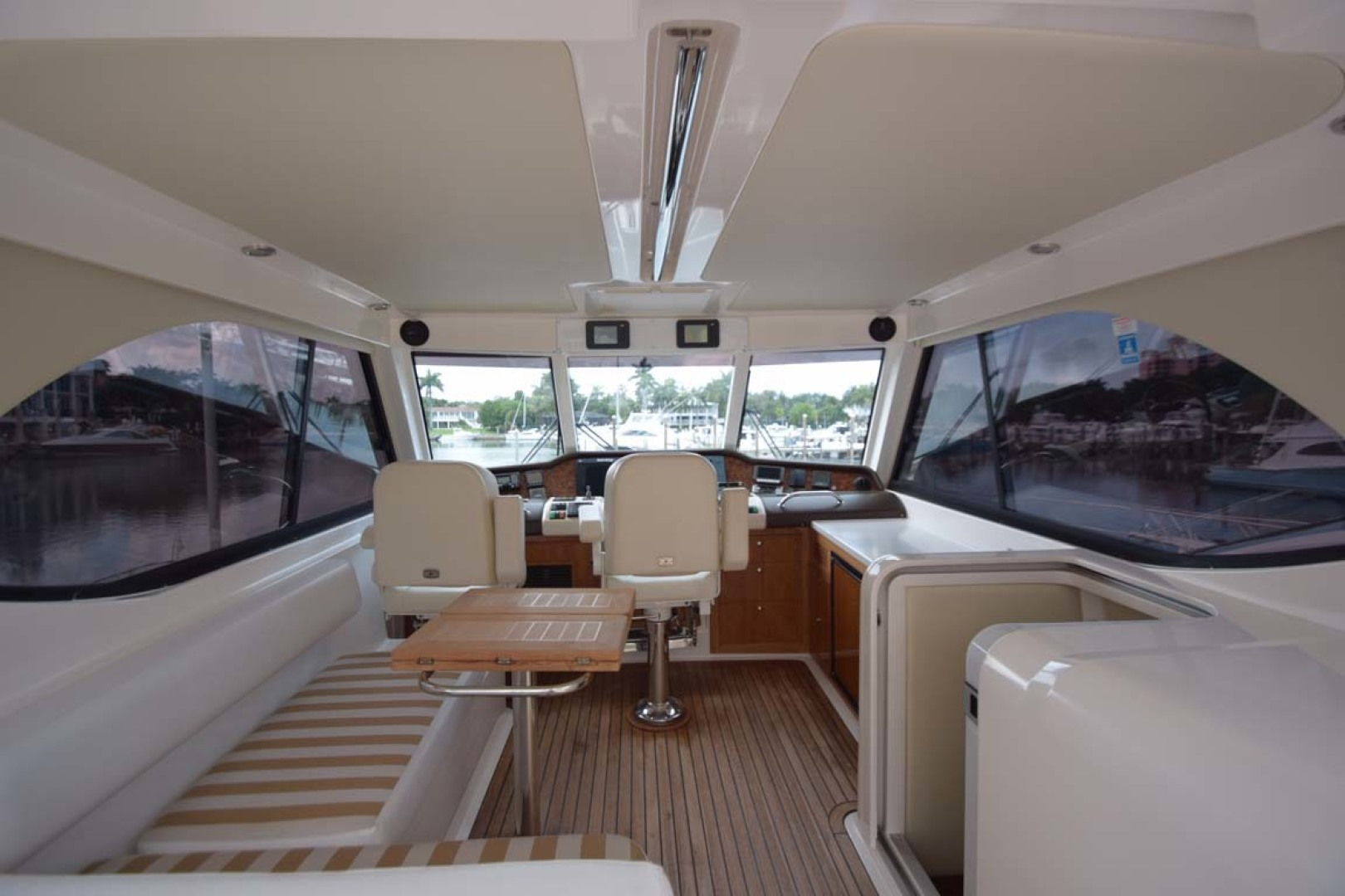 Riviera-Enclosed Flybridge 2007-Magica II Coral Gables-Florida-United States-Enclosed FB Aft To Heml View-1443155 | Thumbnail