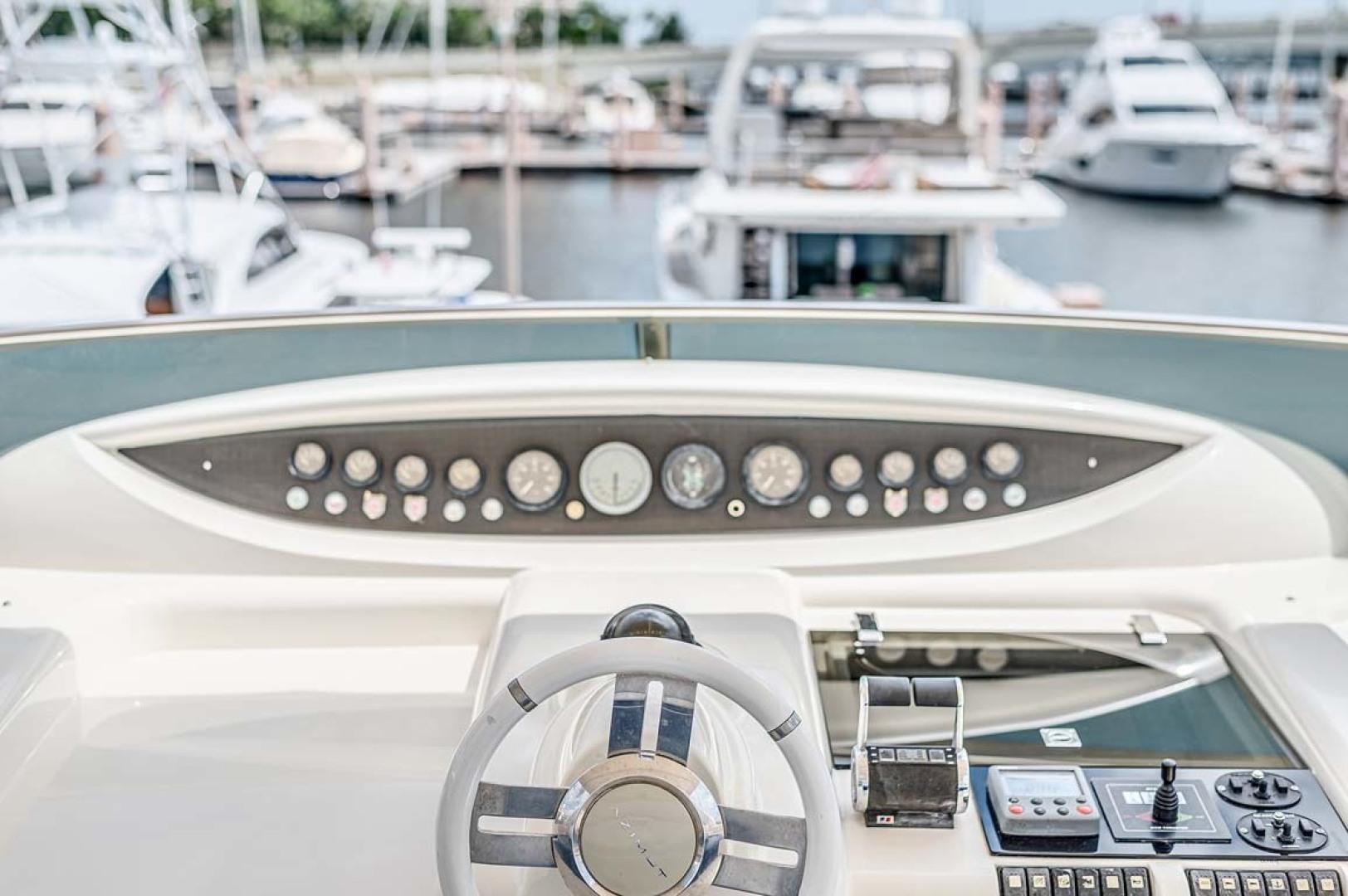 Azimut-Carat 2003-Anchor Management Palm Beach-Florida-United States-Flybridge Helm Close Up-1444684 | Thumbnail