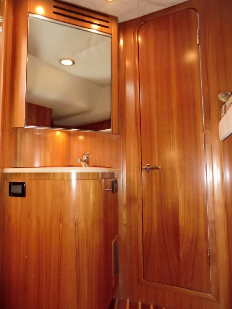 Tiara-44/4700 Sovran 2006-Far From Normal Marco Island-Florida-United States-Guest Vanity And Access Door To Head-1446381 | Thumbnail