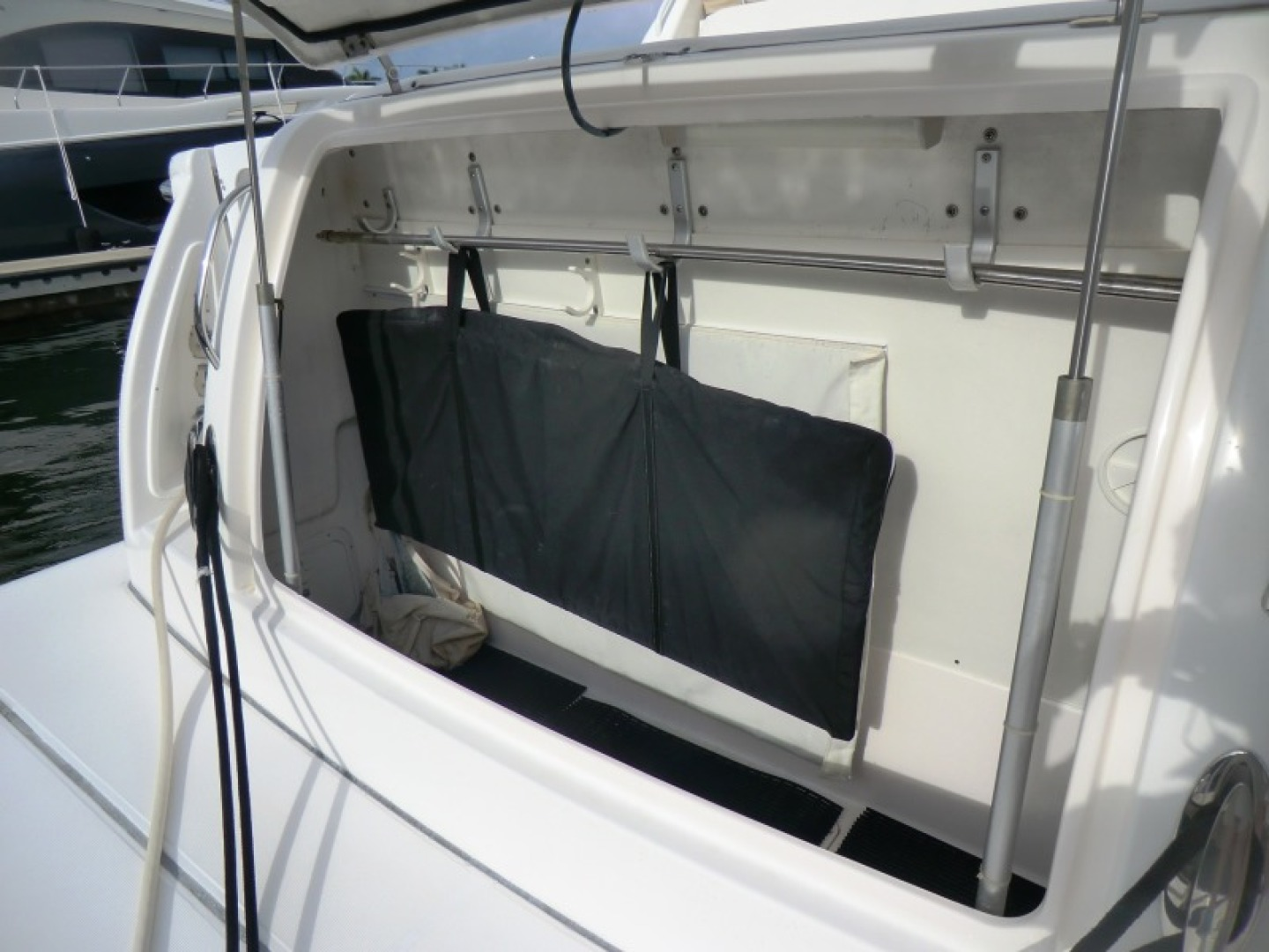 Tiara-44/4700 Sovran 2006-Far From Normal Marco Island-Florida-United States-Transom Storage Locker And Cockpit Table-1446411 | Thumbnail