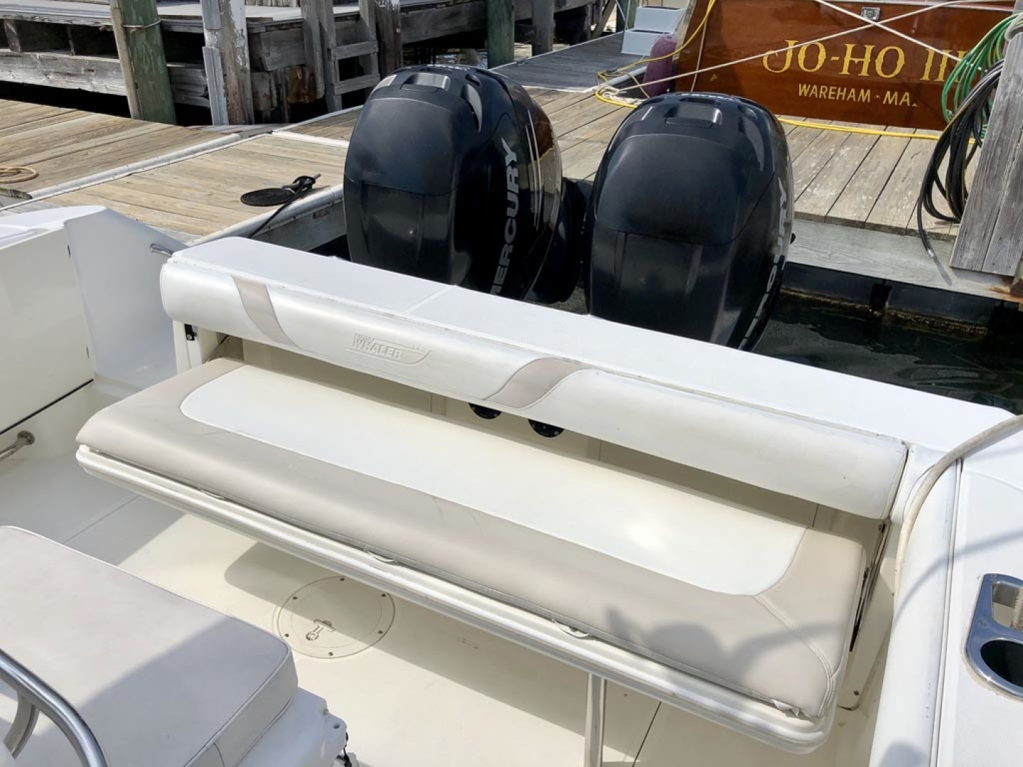 Boston Whaler-320 Outrage Cuddy Cabin 2008 -Onset-Massachusetts-United States-Fold Down Aft Bench Seat-1447538 | Thumbnail