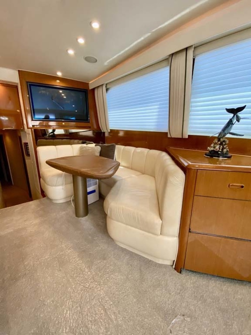 Viking-55 Convertible 1999-Lisa Marie Stuart-Florida-United States-Dinette and TV Starboard Forward-1449388 | Thumbnail