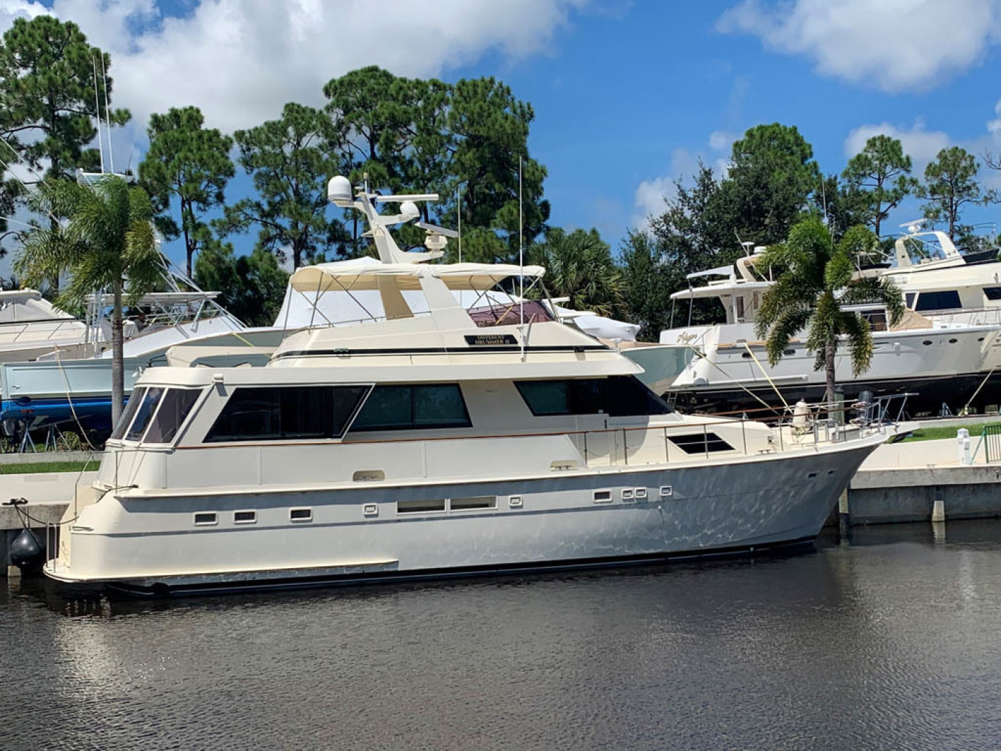 Hatteras-Euro Transom Motor Yacht 1989-Different Drummer II Stuart-Florida-United States-Starboard Aft-1486874 | Thumbnail