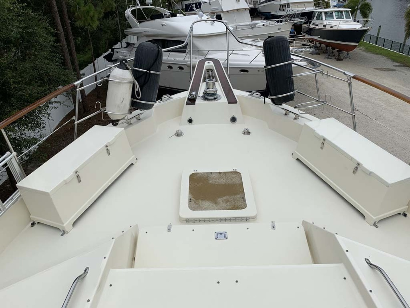Hatteras-Euro Transom Motor Yacht 1989-Different Drummer II Stuart-Florida-United States-Fore Deck-1449995 | Thumbnail