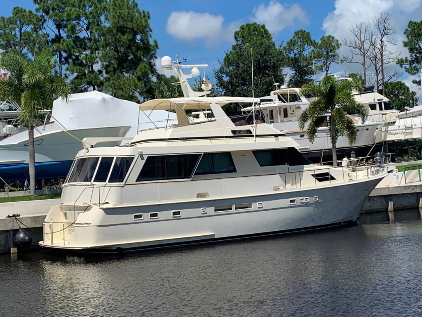 Hatteras-Euro Transom Motor Yacht 1989-Different Drummer II Stuart-Florida-United States-Starboard Aft Quarter-1486876 | Thumbnail