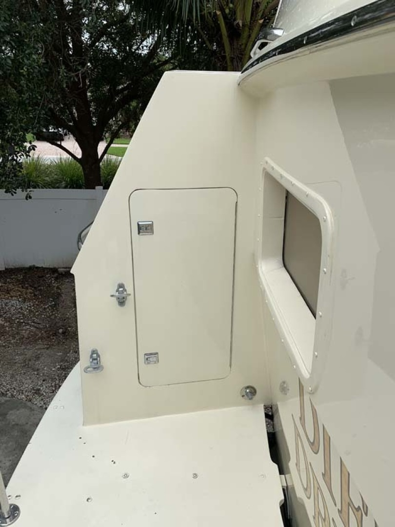 Hatteras-Euro Transom Motor Yacht 1989-Different Drummer II Stuart-Florida-United States-Transom Storage-1450022 | Thumbnail