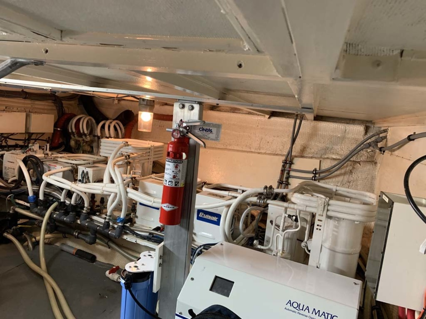 Hatteras-Euro Transom Motor Yacht 1989-Different Drummer II Stuart-Florida-United States-Machinery Room AC Units-1450034 | Thumbnail