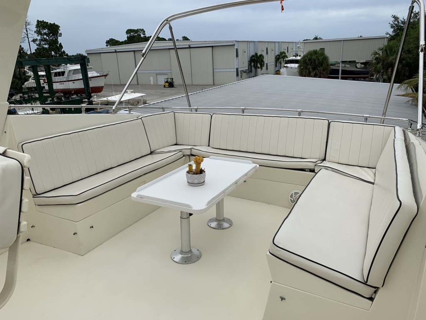 Hatteras-Euro Transom Motor Yacht 1989-Different Drummer II Stuart-Florida-United States-Flybridge Seating-1450006 | Thumbnail
