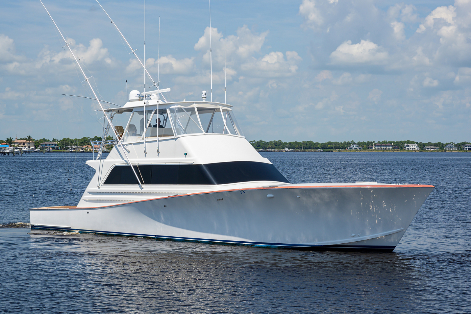 Monterey-Sportfish 1991-Lady Gemini Mantoloking-New Jersey-United States-Lady Gemini_bow_profile_1-1451148 | Thumbnail