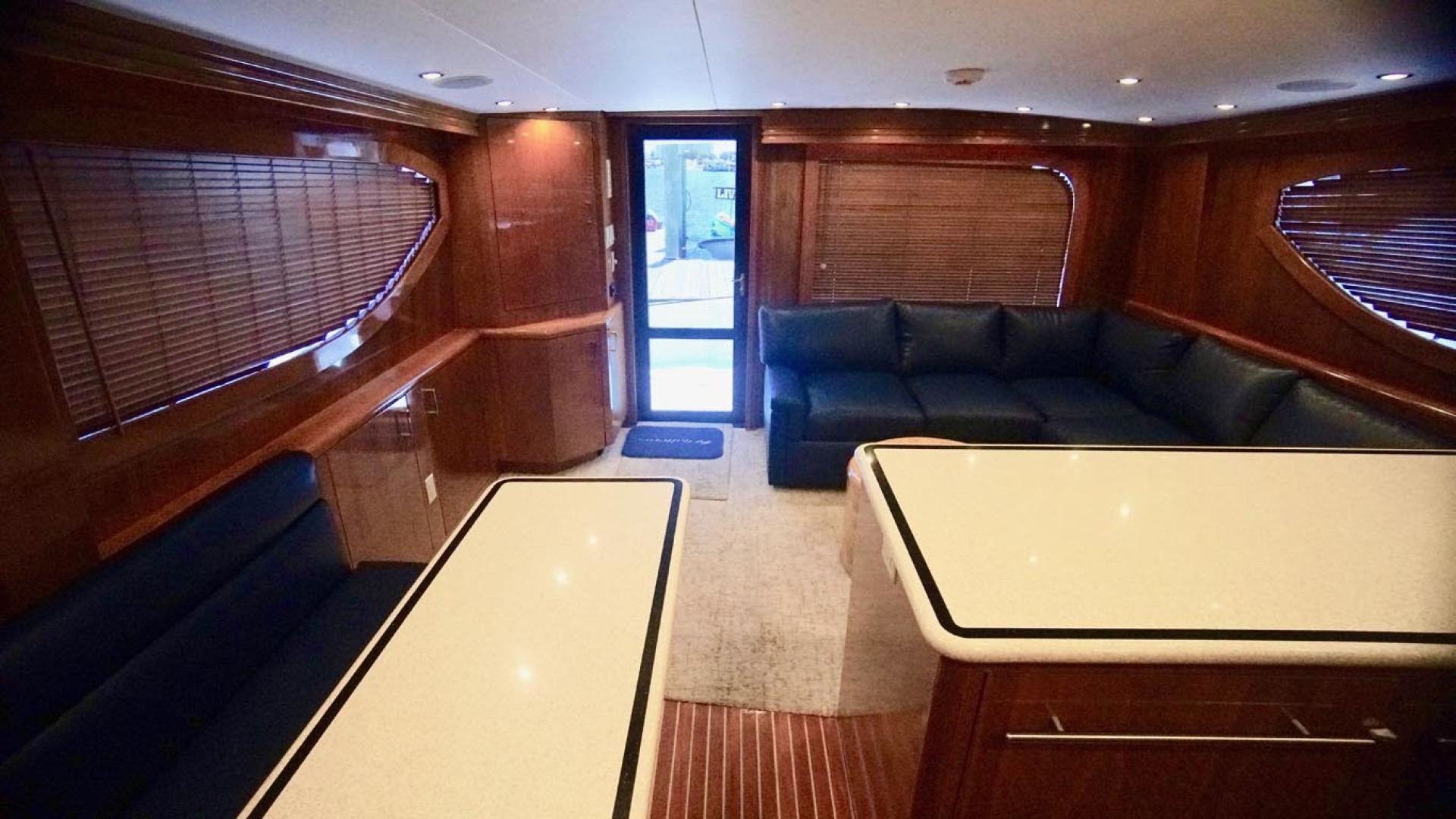 Hatteras-55 Convertible 2001-Main Event Orange Beach-Alabama-United States-Salon Aft From Galley-1454199 | Thumbnail
