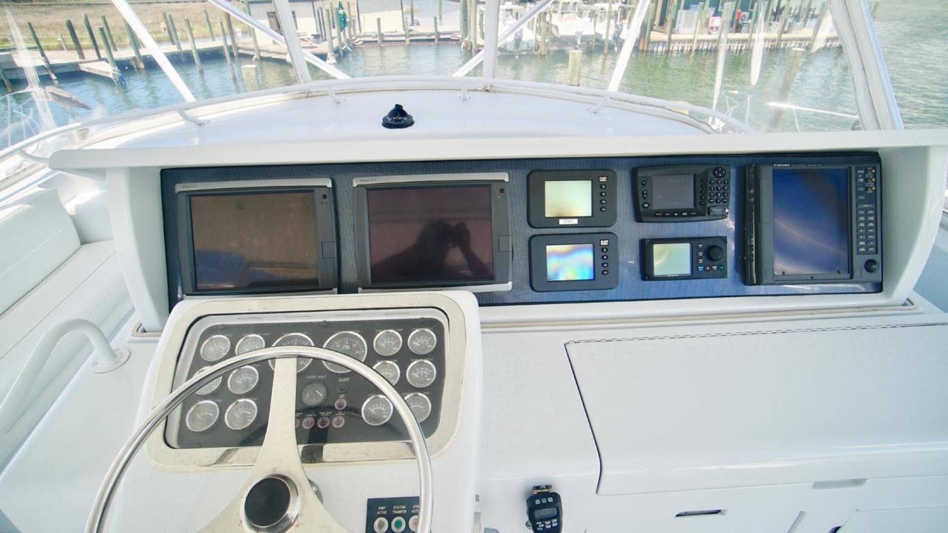 Hatteras-55 Convertible 2001-Main Event Orange Beach-Alabama-United States-Flybridge Helm-1454223   Thumbnail