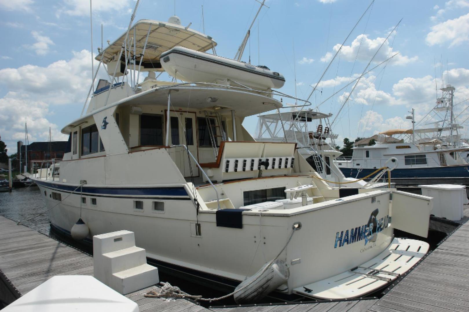 "1975 Hatteras 58' 58 Yachtfish ""Hammerhead"""