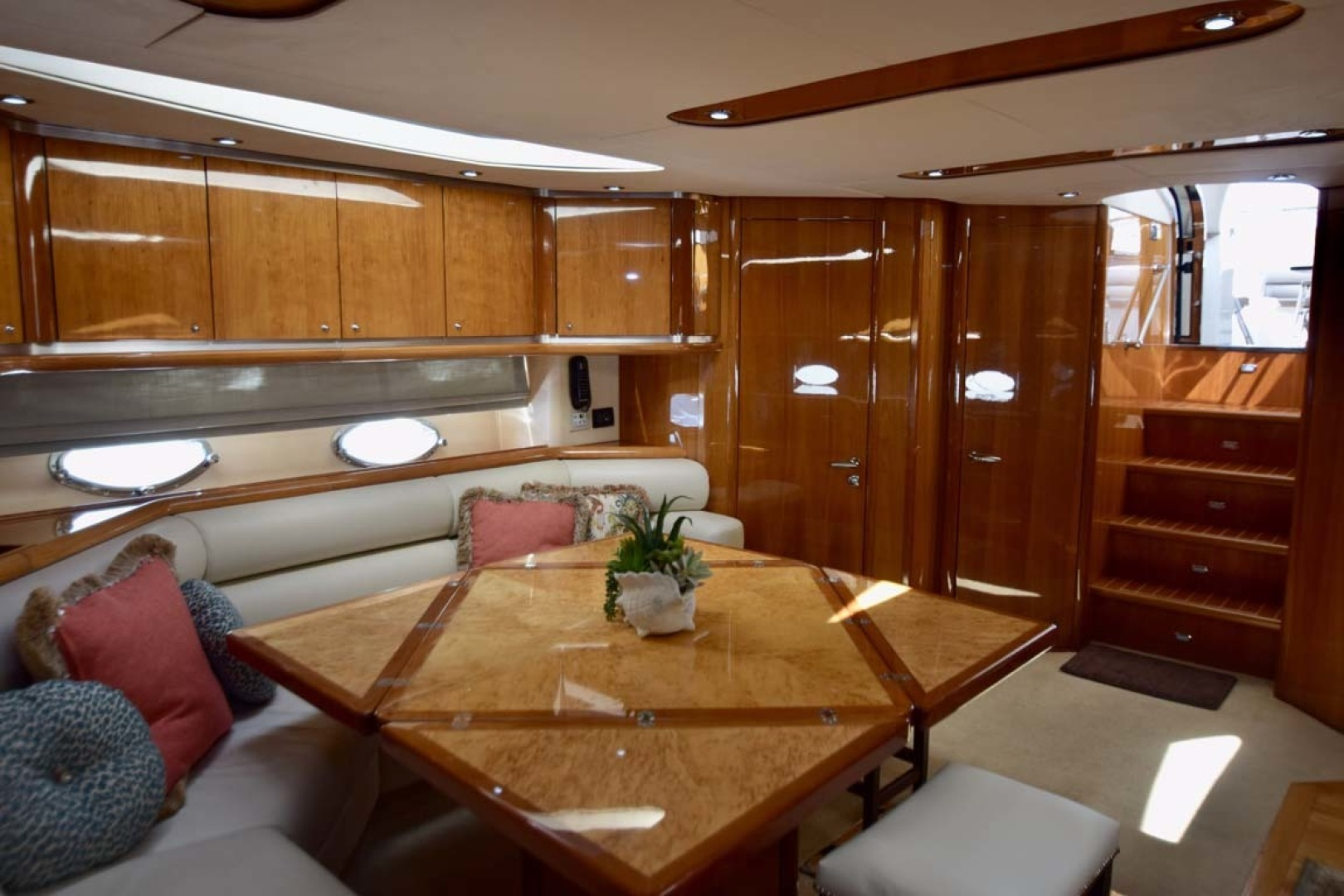 Sunseeker-Predator 2003-Low Profile PALM BEACH-Florida-United States-Main Salon With Extended Table From Port To Stbd. View-1576342 | Thumbnail