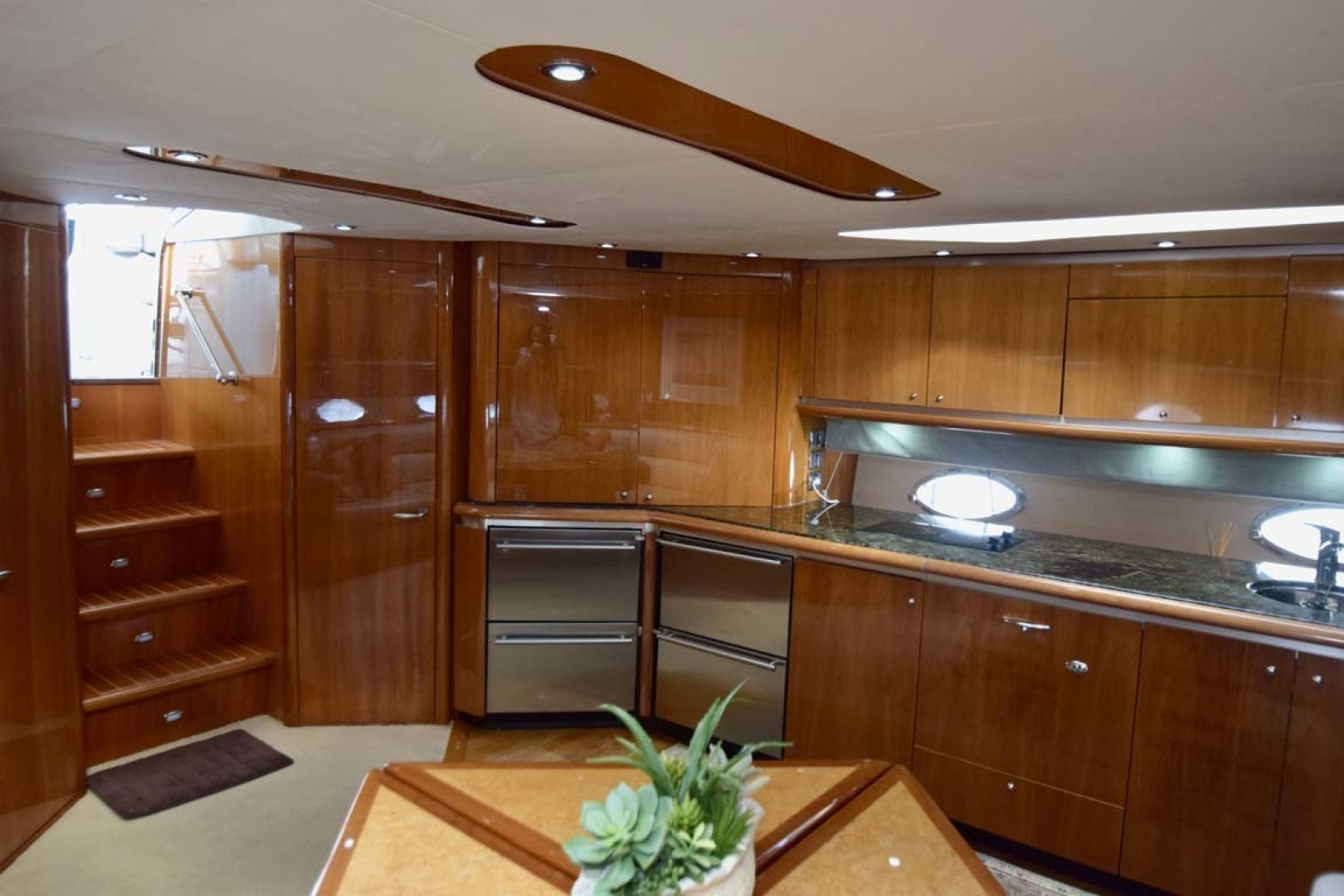 Sunseeker-Predator 2003-Low Profile PALM BEACH-Florida-United States-Main Salon And Galley From Stbd. Corner-1576332 | Thumbnail