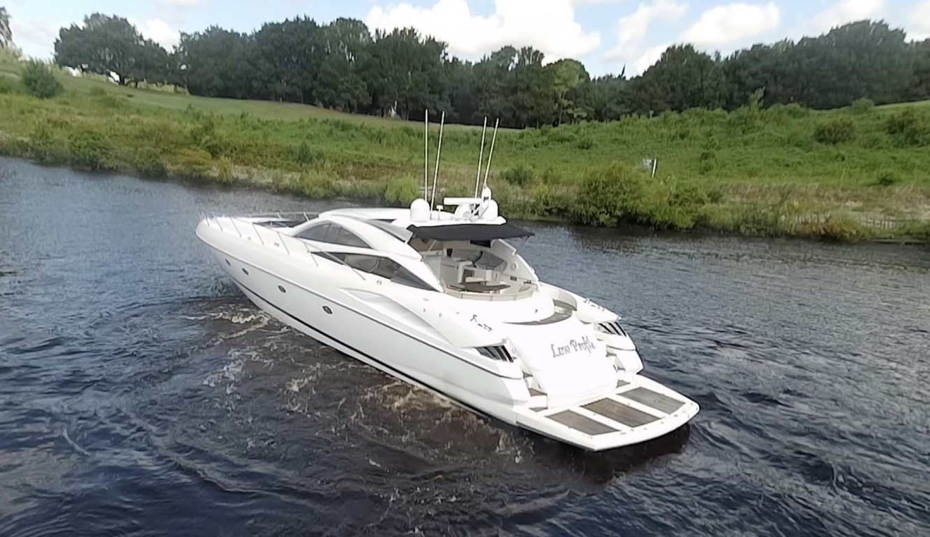 Sunseeker-Predator 2003-Low Profile PALM BEACH-Florida-United States-Port Aft Side View-1576402 | Thumbnail
