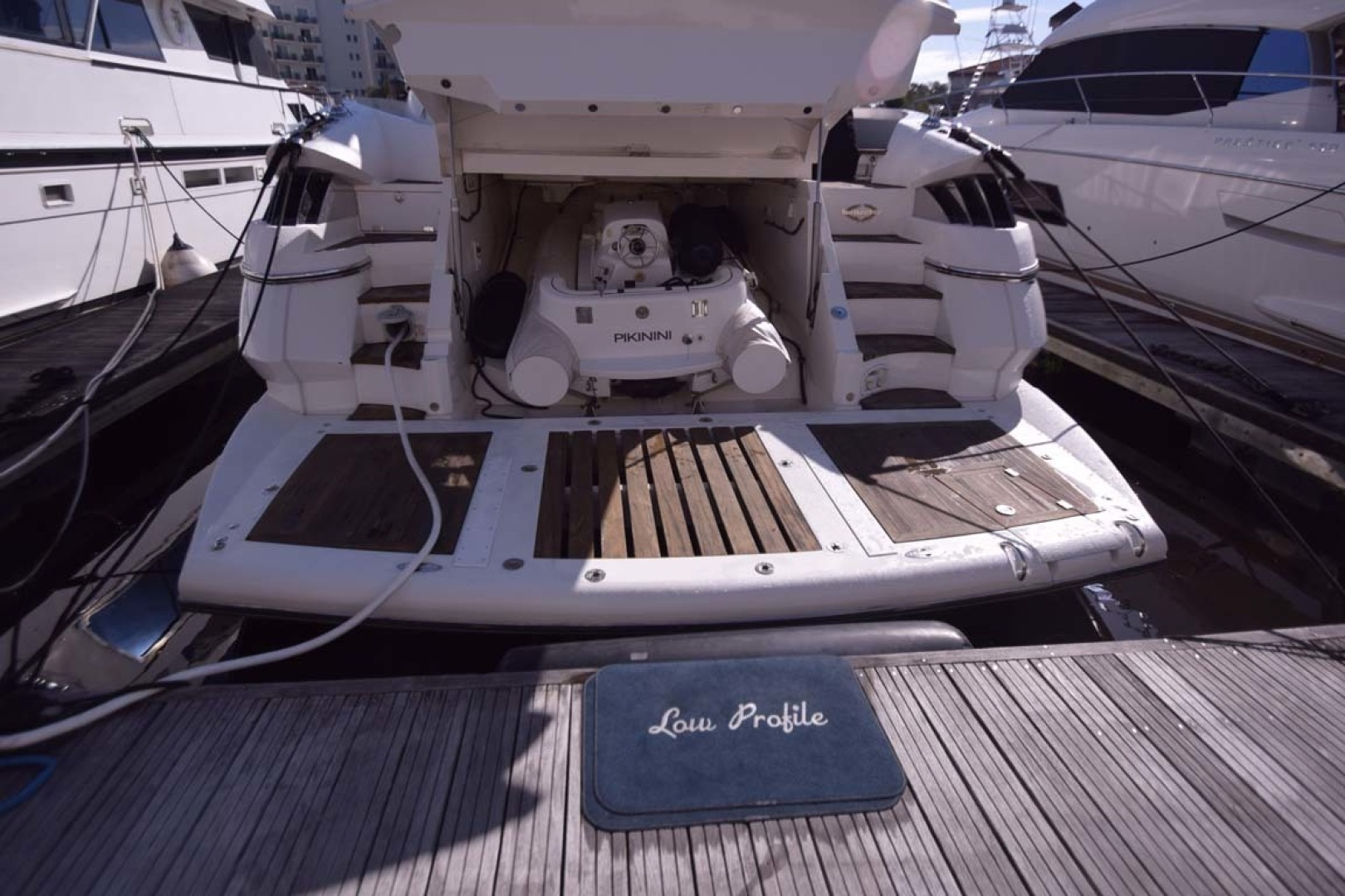 Sunseeker-Predator 2003-Low Profile PALM BEACH-Florida-United States-Tender In Garage View From Dock-1576395 | Thumbnail