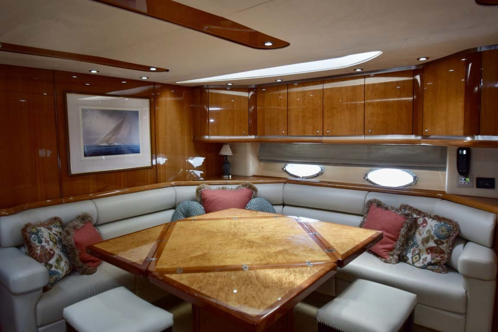 Sunseeker-Predator 2003-Low Profile PALM BEACH-Florida-United States-Main Salon With Extended Table From Galley-1576343 | Thumbnail