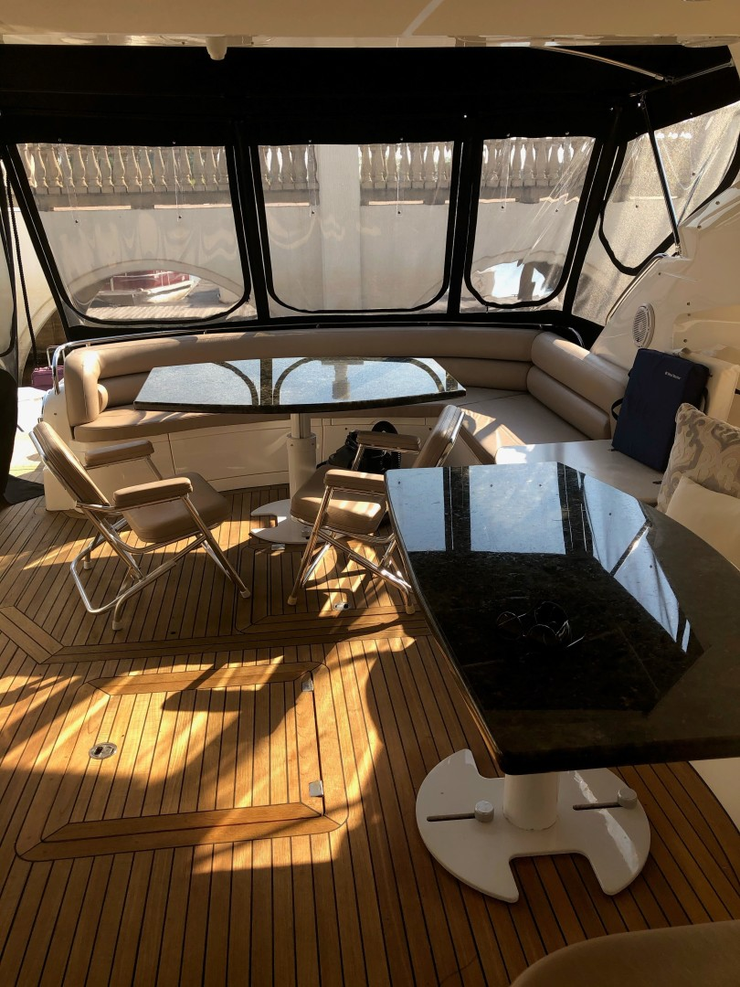 Sunseeker-Predator 2003-Low Profile PALM BEACH-Florida-United States-Aft Enclosure-1576400 | Thumbnail