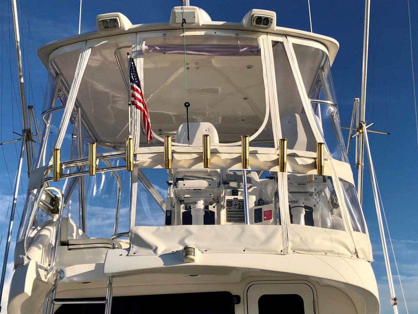 Rampage-45 SF 2004-MY DOLLY Ft. Lauderdale-Florida-United States-Flybridge Aft Rail-1464060 | Thumbnail