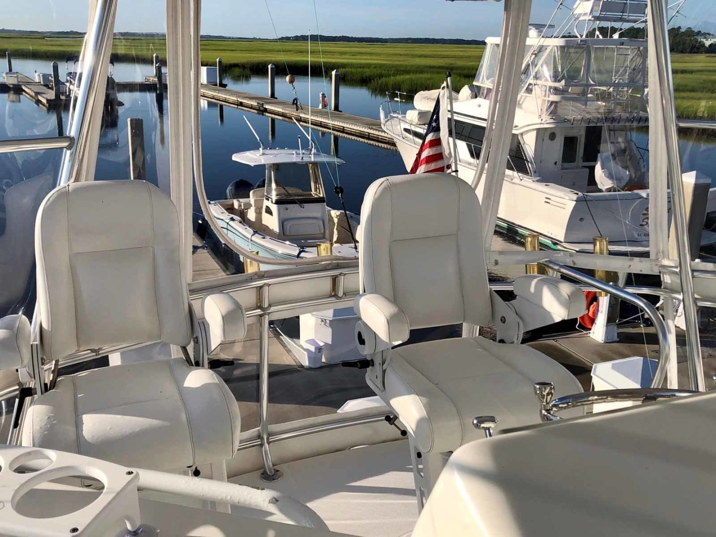 Rampage-45 SF 2004-MY DOLLY Ft. Lauderdale-Florida-United States-Flybridge Looking Aft-1464055 | Thumbnail