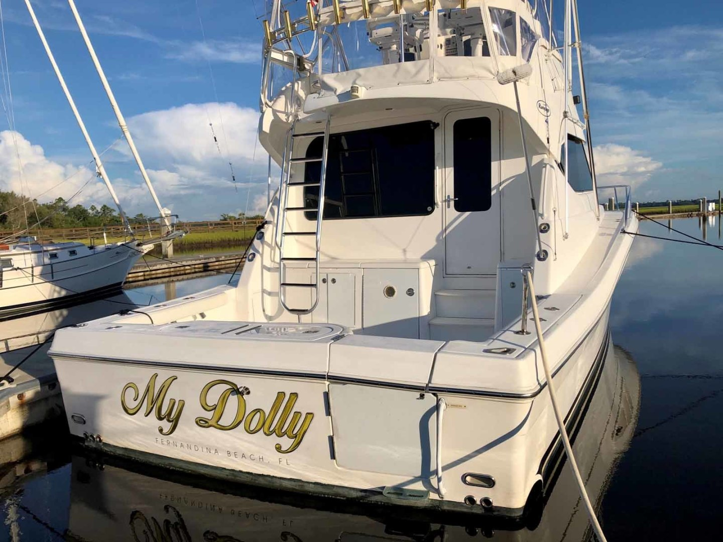 Rampage-45 SF 2004-MY DOLLY Ft. Lauderdale-Florida-United States-Transom-1464043 | Thumbnail