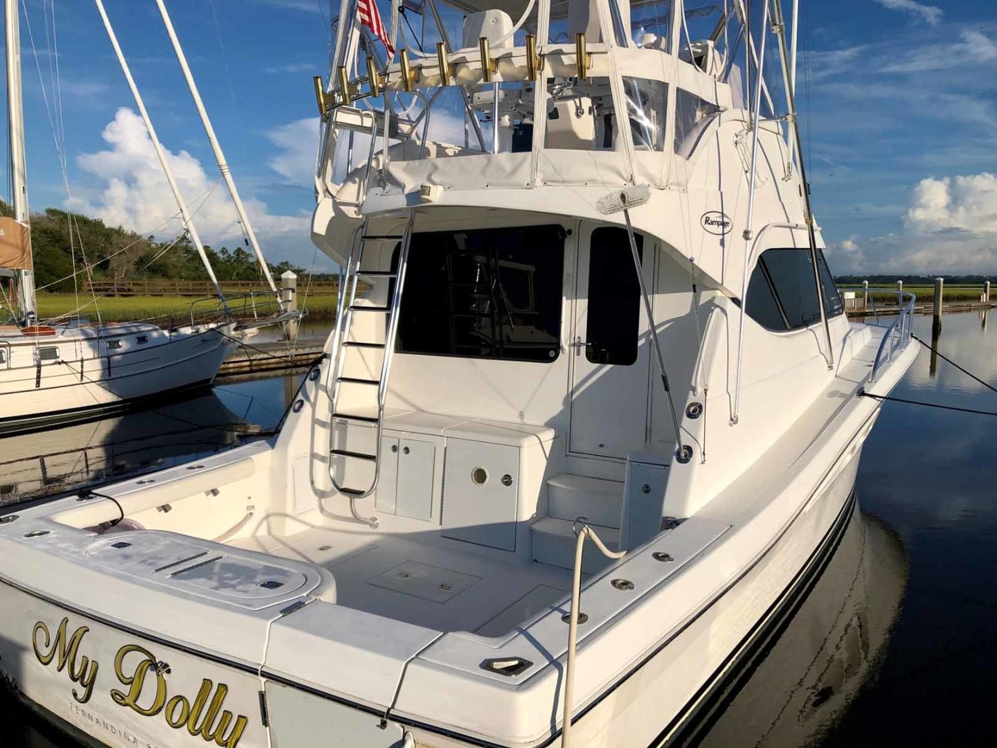 Rampage-45 SF 2004-MY DOLLY Ft. Lauderdale-Florida-United States-Transom-1464044 | Thumbnail