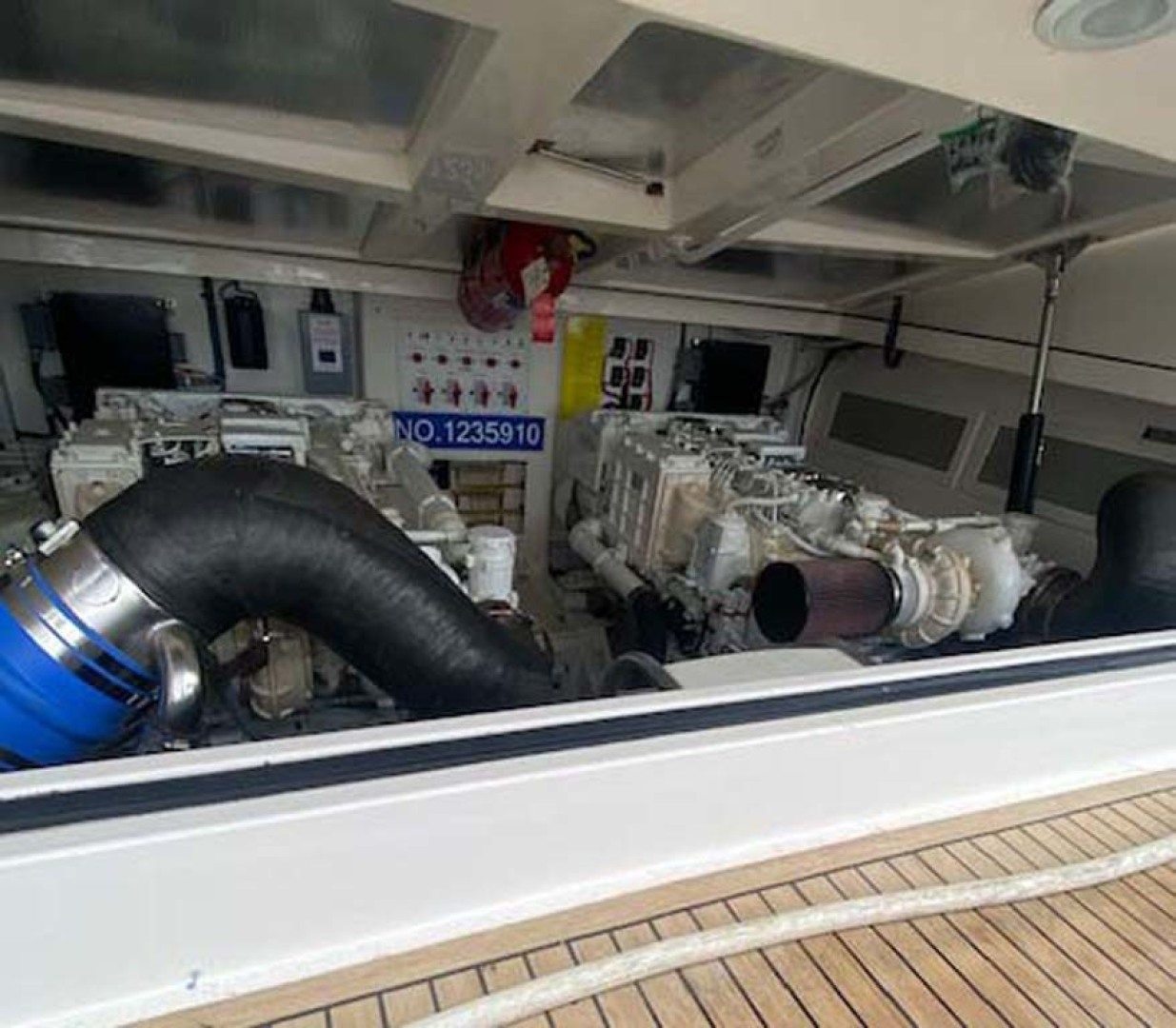 Cabo-38 Express 2008-Miss Kris Long Island-New York-United States Engine Room Access-1462787 | Thumbnail