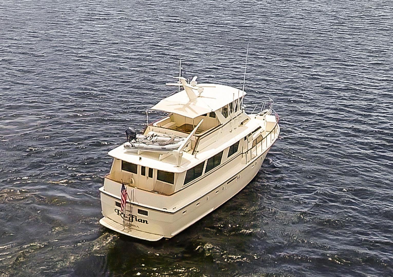 Hatteras-Motor Yacht 1985-Ruffian North Palm Beach-Florida-United States-Ruffian Aerials Stern-1470910 | Thumbnail