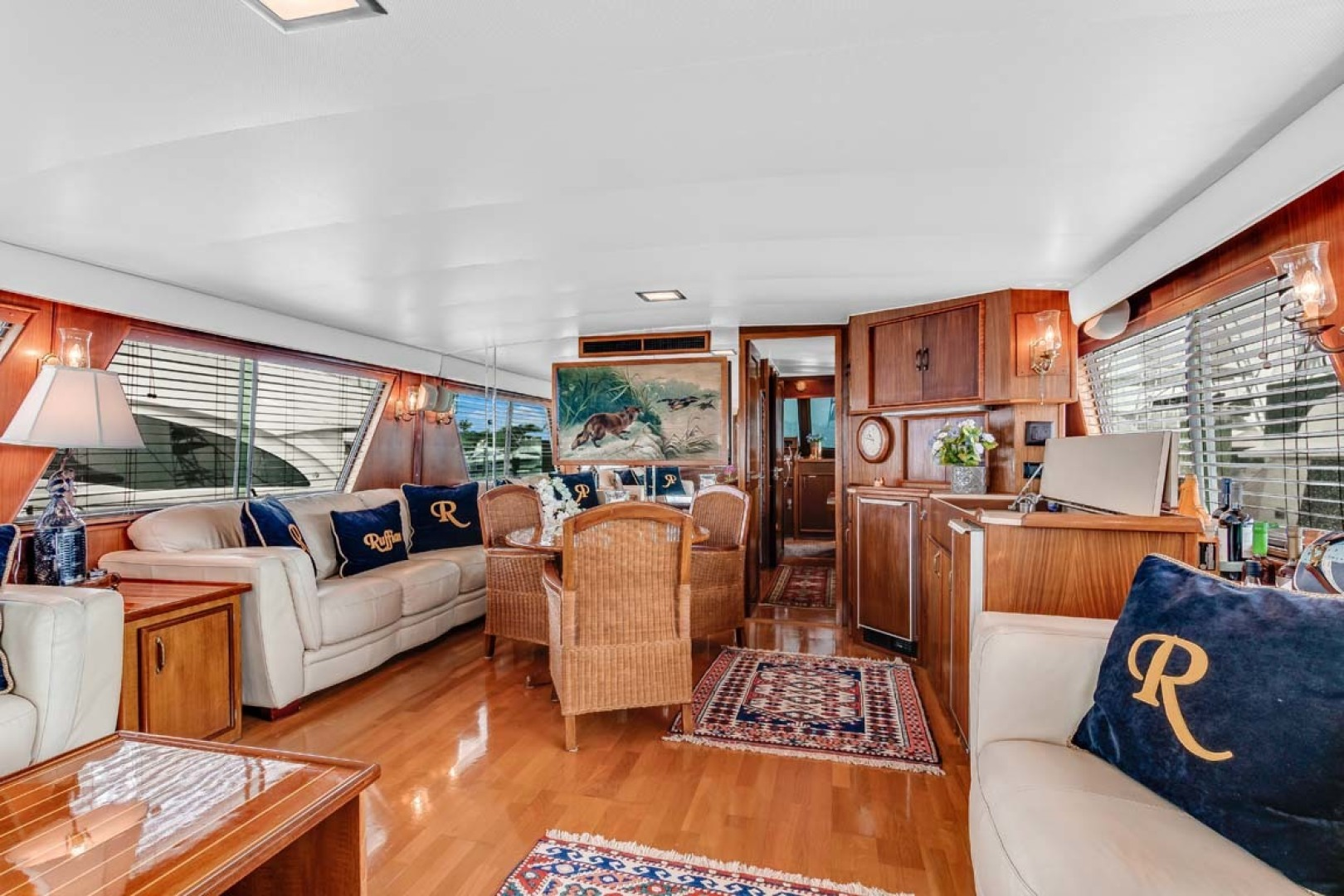 Hatteras-Motor Yacht 1985-Ruffian North Palm Beach-Florida-United States-Main Salon looking Forward-1463626 | Thumbnail