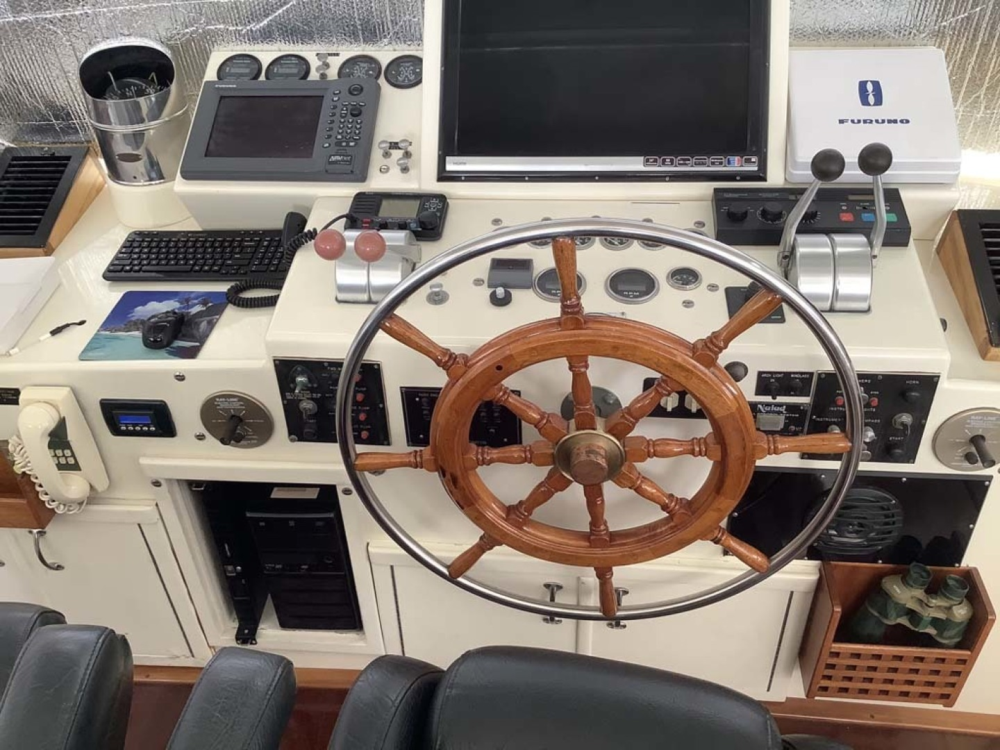 Hatteras-Motor Yacht 1985-Ruffian North Palm Beach-Florida-United States-Helm-1463655 | Thumbnail
