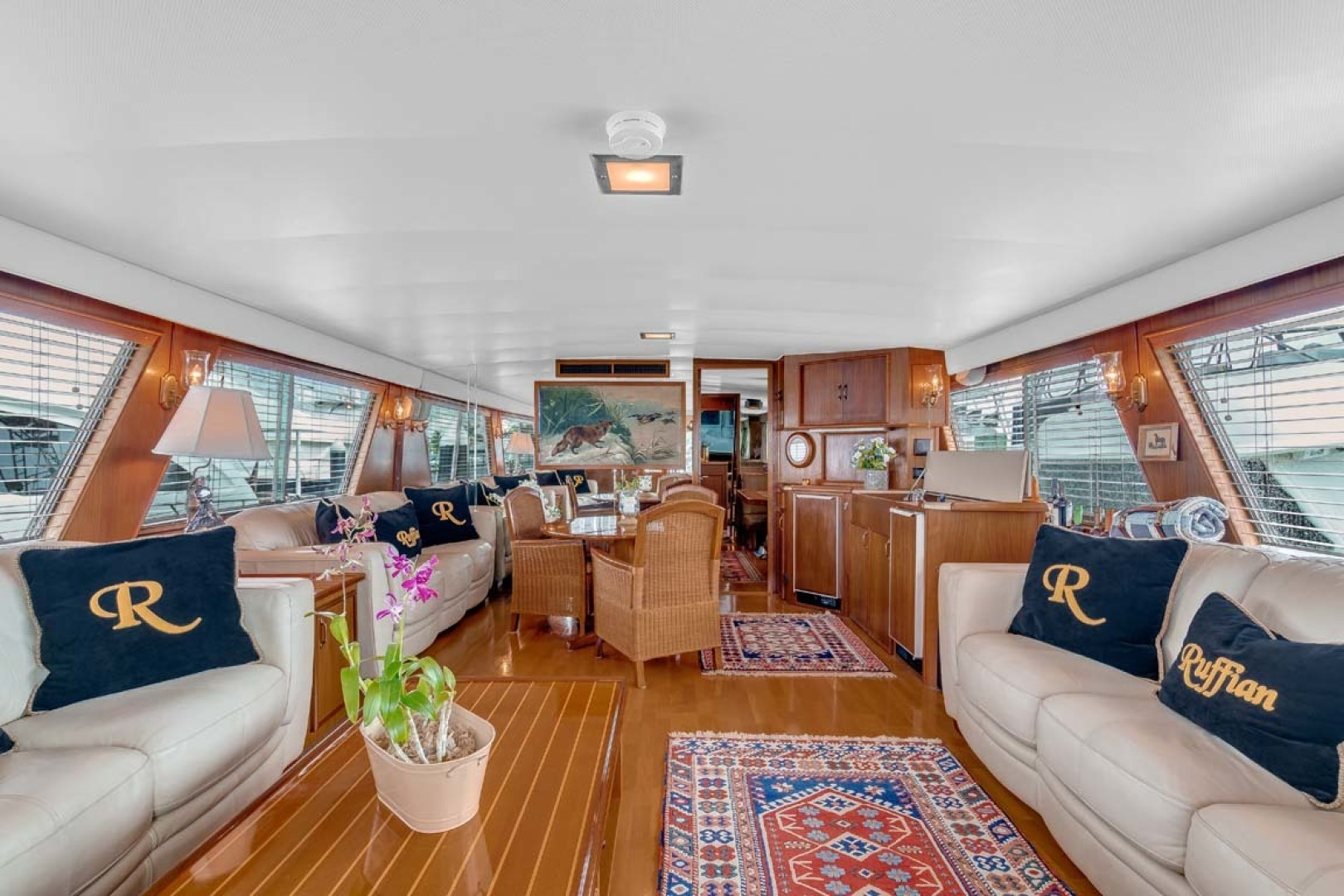 Hatteras-Motor Yacht 1985-Ruffian North Palm Beach-Florida-United States-Main Salon looking Forward-1463627 | Thumbnail