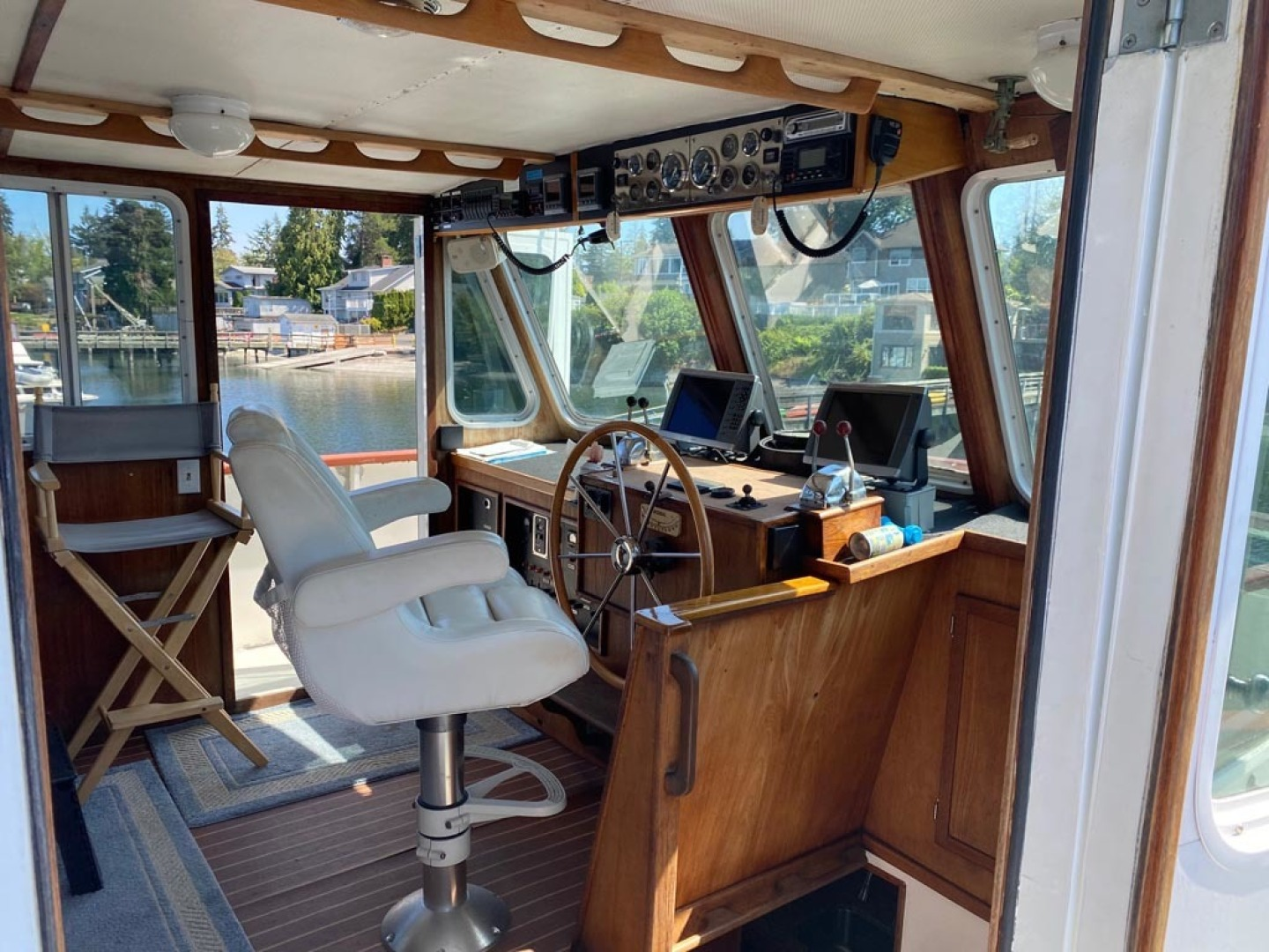 Custom-Pilothouse Trawler 1974-Great Orca Keyport-Washington-United States-Pilothouse From Stbd Deck-1466971 | Thumbnail