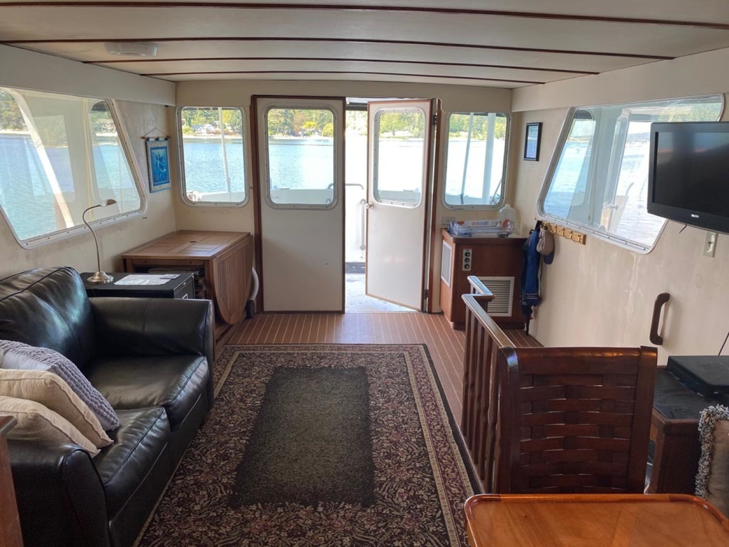 Custom-Pilothouse Trawler 1974-Great Orca Keyport-Washington-United States-Main Salon Looking Aft-1466963 | Thumbnail