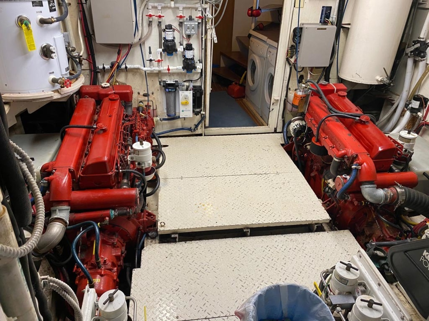 Custom-Pilothouse Trawler 1974-Great Orca Keyport-Washington-United States-Twin Ford Lehmans Engine Room-1466976 | Thumbnail
