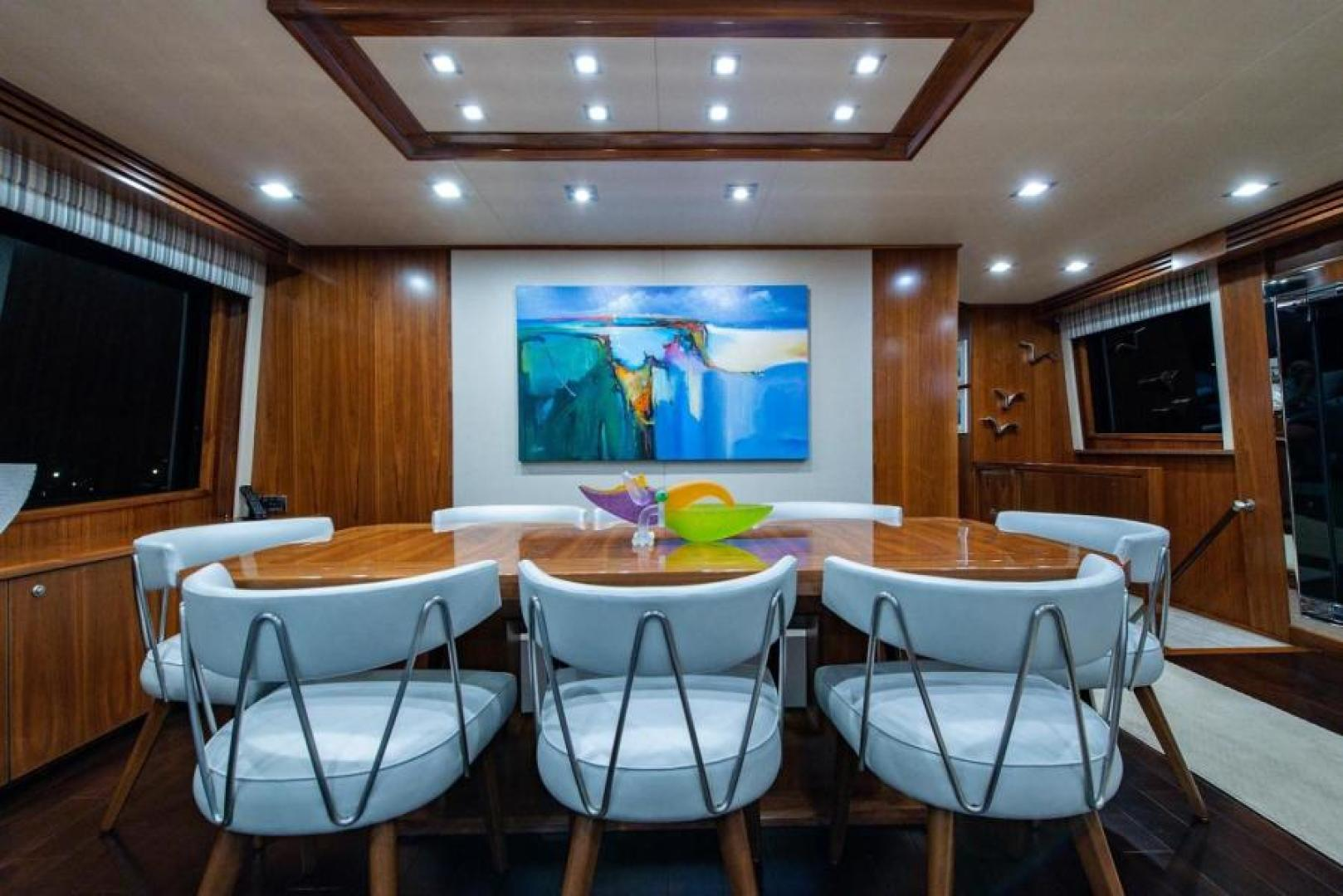 Viking-Motoryacht Enclosed Flybridge 2018-BOOK ENDS Fort Lauderdale-Florida-United States-Salon Dining-1470576 | Thumbnail