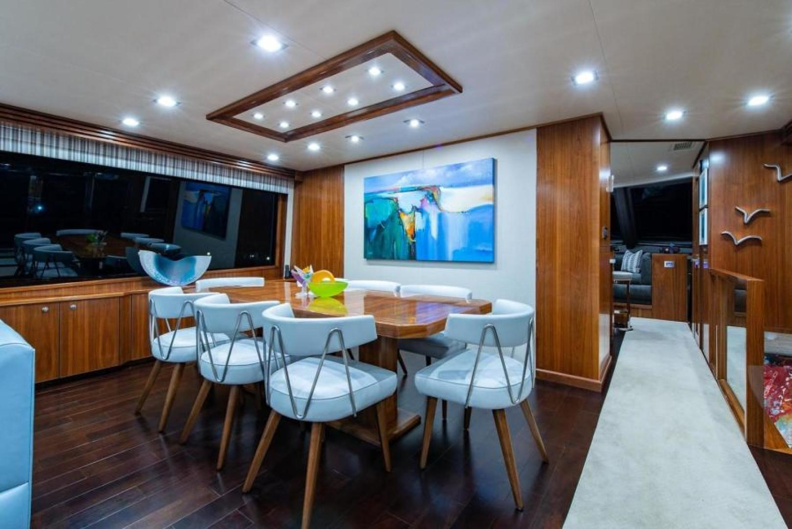Viking-Motoryacht Enclosed Flybridge 2018-BOOK ENDS Fort Lauderdale-Florida-United States-Dining Salon-1470574 | Thumbnail