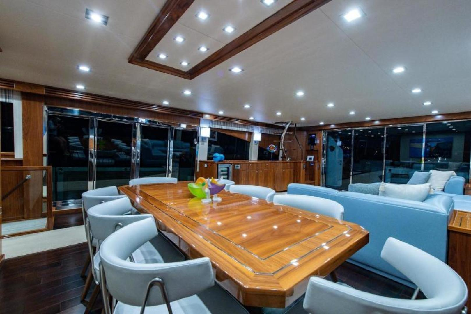 Viking-Motoryacht Enclosed Flybridge 2018-BOOK ENDS Fort Lauderdale-Florida-United States-Salon Dining-1470577 | Thumbnail