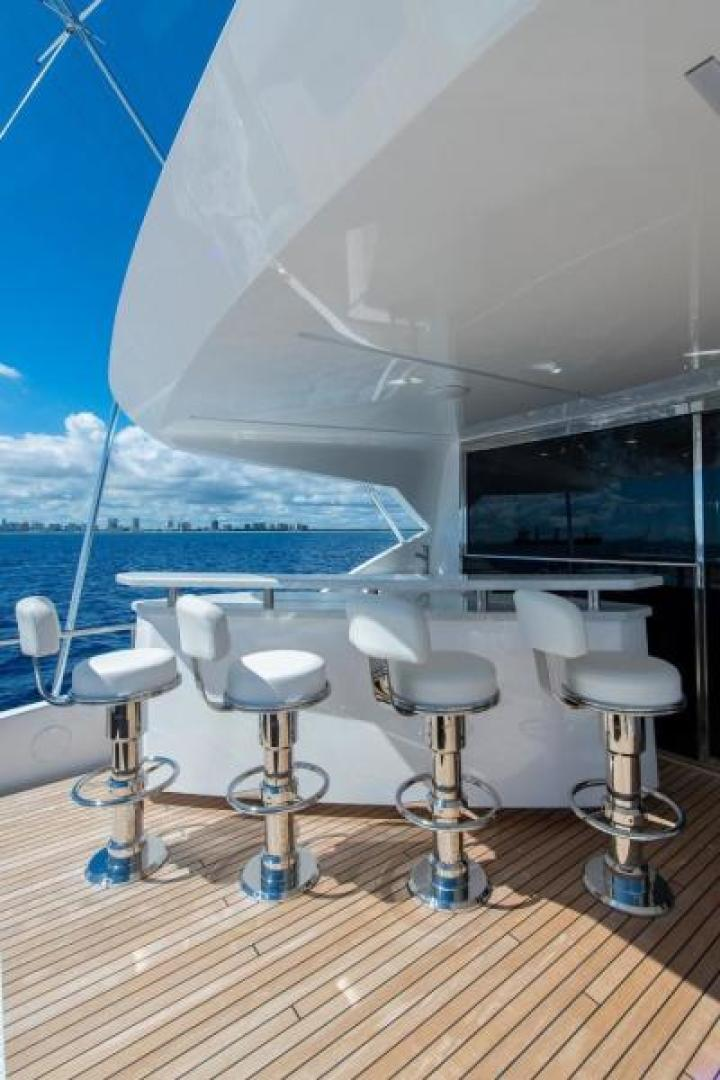 Viking-Motoryacht Enclosed Flybridge 2018-BOOK ENDS Fort Lauderdale-Florida-United States-Enclosed Bridge Aft Deck-1470639 | Thumbnail